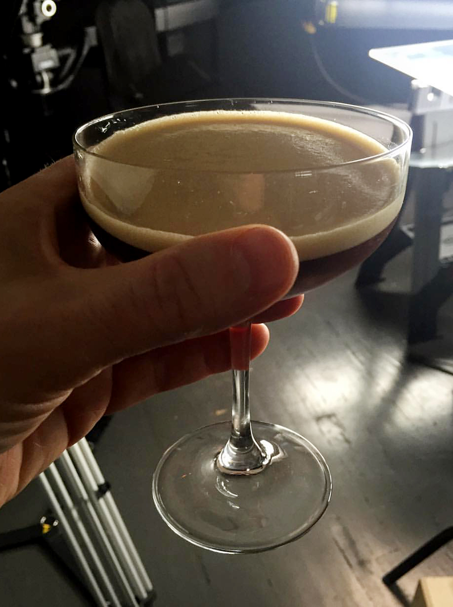Espressotini... on set. Yes please...