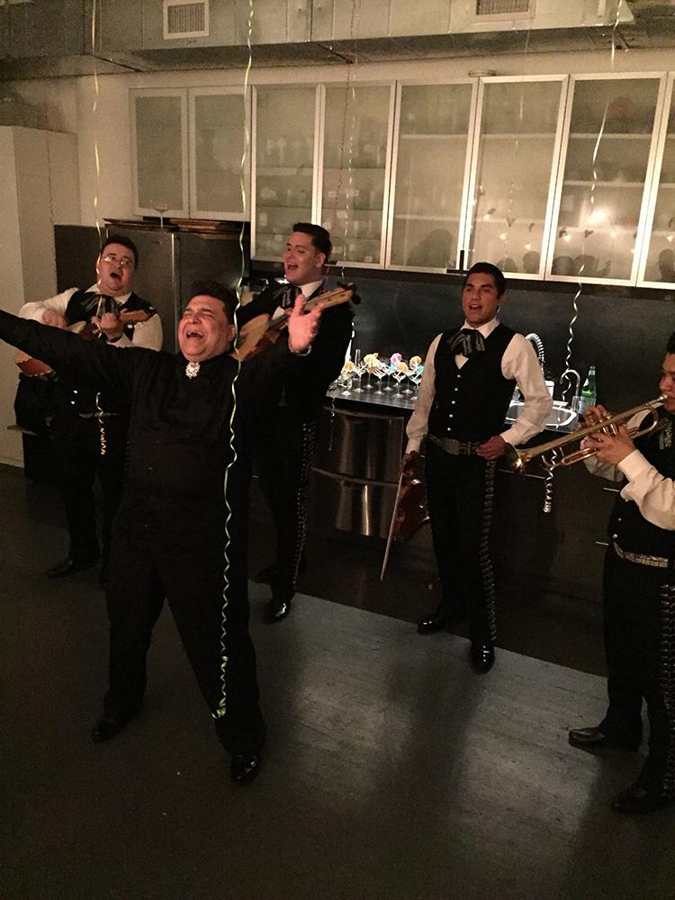 Mariachi band rocking the studio...