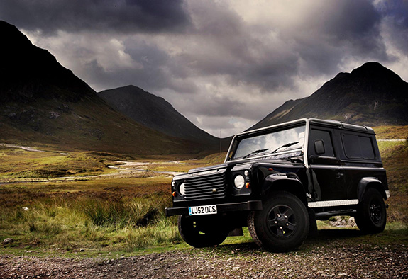 Merlin stretching his legs in the Highlands...