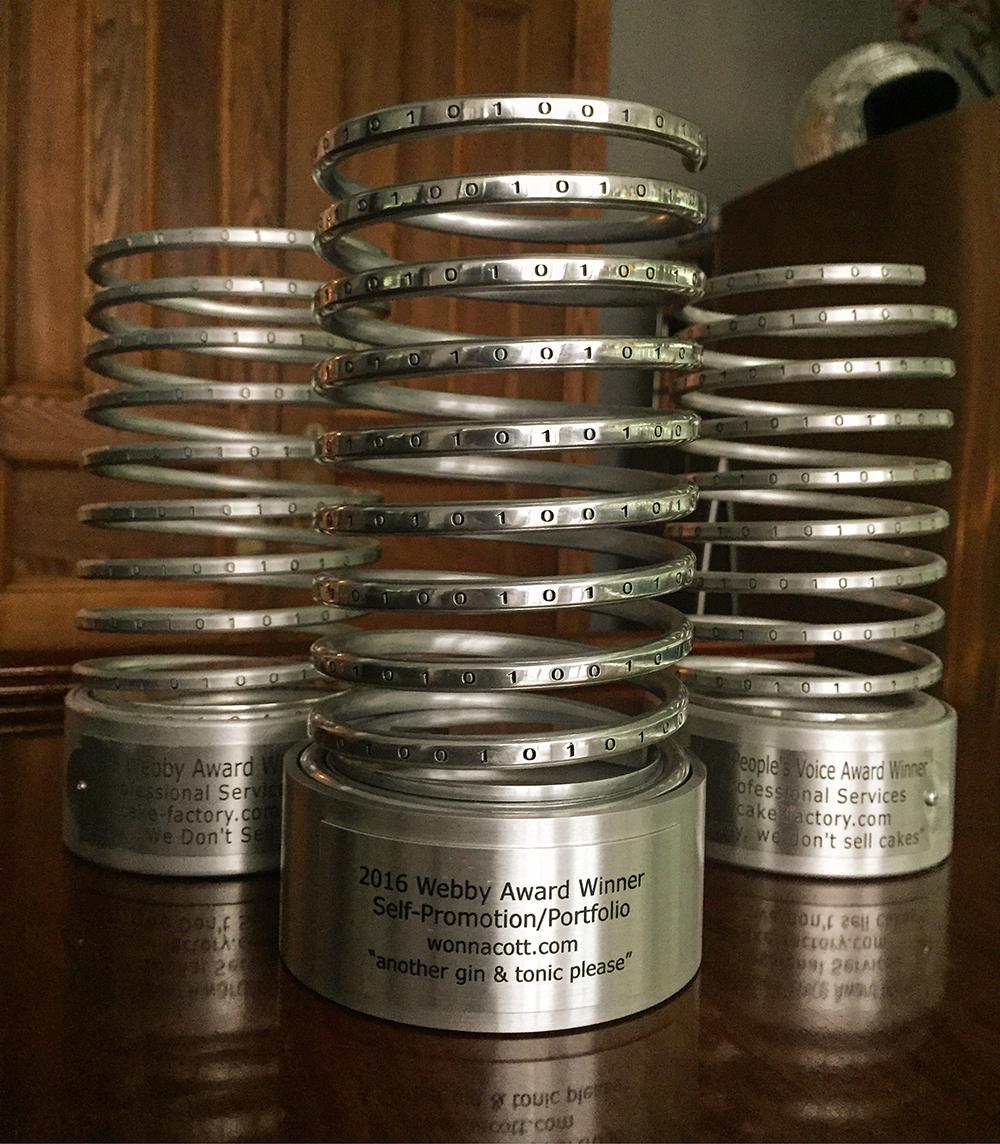 Go team... Wonnacott.com and cake-factory.com Webby awards...