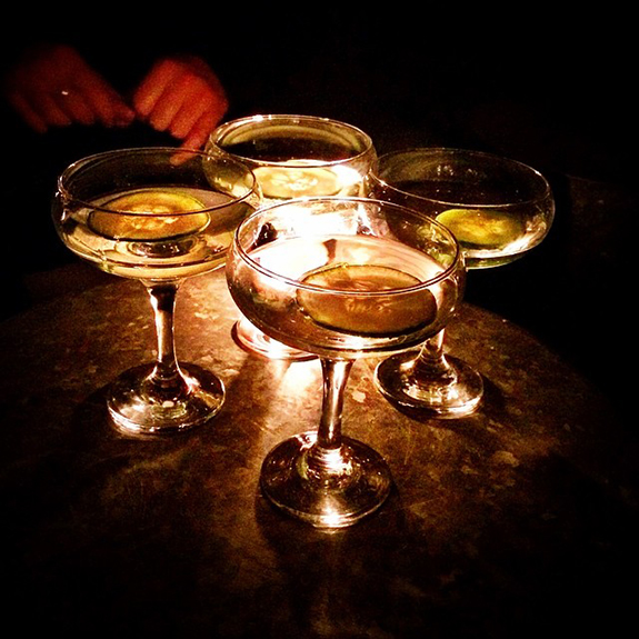 A round of martini's after a hard days shoot...